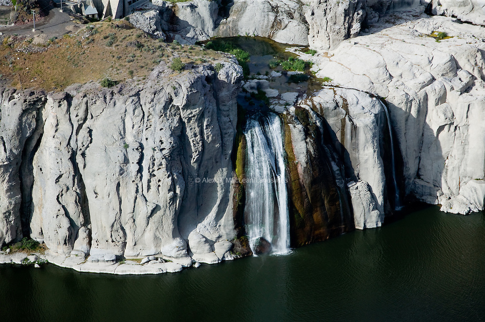 """Shoshone Falls is known at the """"Niagara of the West"""".  In the summer, water levels are significantly depleted due to withdrawals from the Snake River for irrigation."""