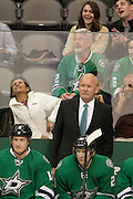 DALLAS, TX - NOVEMBER 1:  Head coach Lindy Ruff of the Dallas Stars looks on against the Colorado Avalanche on November 1, 2013 at the American Airlines Center in Dallas, Texas.  (Photo by Cooper Neill/Getty Images) *** Local Caption *** Lindy Ruff