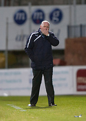 Dundee's manager John Brown.<br /> Dundee 1 v 1 Falkirk, Scottish Championship game at Dundee's home ground Dens Park.<br /> ©Michael Schofield.