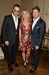 Left to right, TOM FORD, BROOKE BARZUN and MATTHEW BARZUN at a party hosed by the US Ambassador to the UK Matthew Barzun, his wife Brooke Barzun and editor of UK Vogue Alexandra Shulman in association with J Crew to celebrate London Fashion Week held at Winfield House, Regent's Park, London on 16th September 2014.