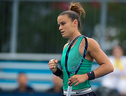 August 15, 2018 - Maria Sakkari of Greece in action during her second-round match at the 2018 Western & Southern Open WTA Premier 5 tennis tournament. Cincinnati, Ohio, USA. August 15th 2018. (Credit Image: © AFP7 via ZUMA Wire)