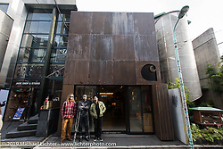 Yaniv Neevo Evan and friends at the Carhartt boutique in the Shibuya district of Tokyo, Japan. Wednesday, December 10, 2014. Photograph ©2014 Michael Lichter.