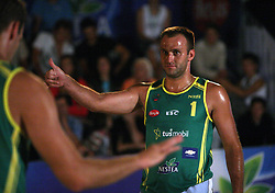 Dejan Matijasevic (Kalcer & Alfa-M Team) at qualifications for 14th National Championship of Slovenia in Beach Volleyball and also 4th tournament of series TUSMOBIL LG presented by Nestea, on July 25, 2008, in Kranj, Slovenija. (Photo by Vid Ponikvar / Sportal Images)/ Sportida)