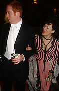 Damian Lewis and Helen McCrory, Belle Epoche gala fundraising dinner. National Gallery. 16 March 2006. ONE TIME USE ONLY - DO NOT ARCHIVE  © Copyright Photograph by Dafydd Jones 66 Stockwell Park Rd. London SW9 0DA Tel 020 7733 0108 www.dafjones.com