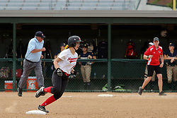 29 May 2017: #4  Ottawa Marquette Crusaders v Heyworth Hornets at IWU in Bloomington Illinois for the IHSA Class 1A Softball Sectional Championship.