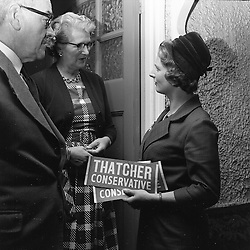 MARGARET THATCHER meeting voters during the 1959 General Election campaign in September 1959 in Finchley, London.