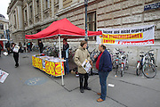 Universities in Vienna, Austria..Universität Wien..Demonstration against fees for studyiing (Studiengebühren).