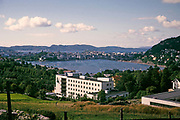 View over Store Lungegårdsvann lake in <br />