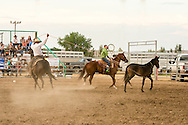 Will James Roundup, Ranch Rodeo, Wild Horse Roping, Hardin, Montana, Nate Roskelley, Garrett Severe, MODEL RELEASED, PROPERTY RELEASED riders & horses only.