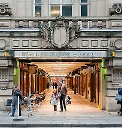 The Royal Exchange Arcade Manchester..www.pauldaviddrabble.co.uk..29 January 2012 -  Image © Paul David Drabble