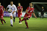 2011 FIFA Women's World Cup Qualifying match, Wales v Czech Republic at Stebonheath Park, Llanelli on Wed 23rd September 2009. pic by Andrew Orchard..Wales captain Jayne Ludlow