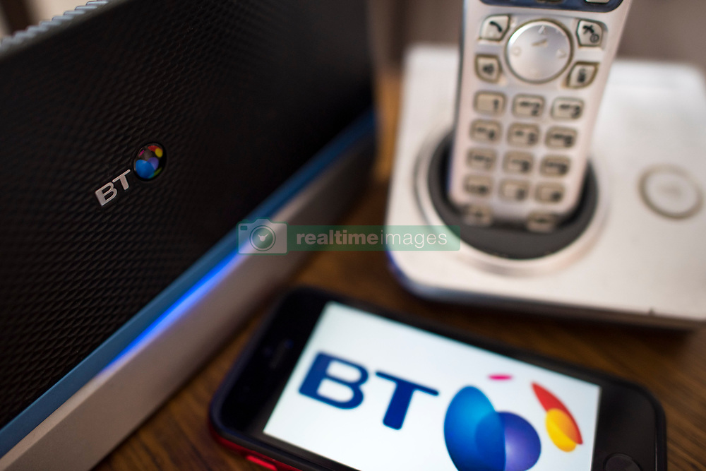 General view of a British Telecom Homehub router, along with a telephone. BT is currently the 4th most valuable British brand, according to analysts Brand Finance's directory. Picture date: Friday March 10, 2017. Photo credit should read: Matt Crossick/ EMPICS Entertainment.