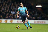 Jordi Amat of Swansea city in action. Premier league match, West Bromwich Albion v Swansea city at the Hawthorns stadium in West Bromwich, Midlands on Wednesday 14th December 2016. pic by Andrew Orchard, Andrew Orchard sports photography.