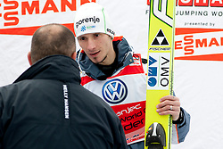 Blaz Miklavcic, director of GH Holding Ljubljana and KRANJEC Robert (SLO) during Flying Hill Individual competition at 4th day of FIS Ski Jumping World Cup Finals Planica 2012, on March 18, 2012, Planica, Slovenia. (Photo by Urban Urbanc / Sportida.com)