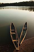 Dugout Canoe<br /> Yupukari Amerindian Village<br /> Rupununi<br /> GUYANA<br /> South America