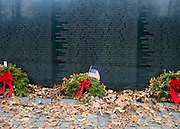 © Licensed to London News Pictures. 01/01/2013. Washington DC, USA .  The Vietnam Memorial featuring the names of those killed in the USA Vietnam War. Photo credit : Stephen Simpson/LNP