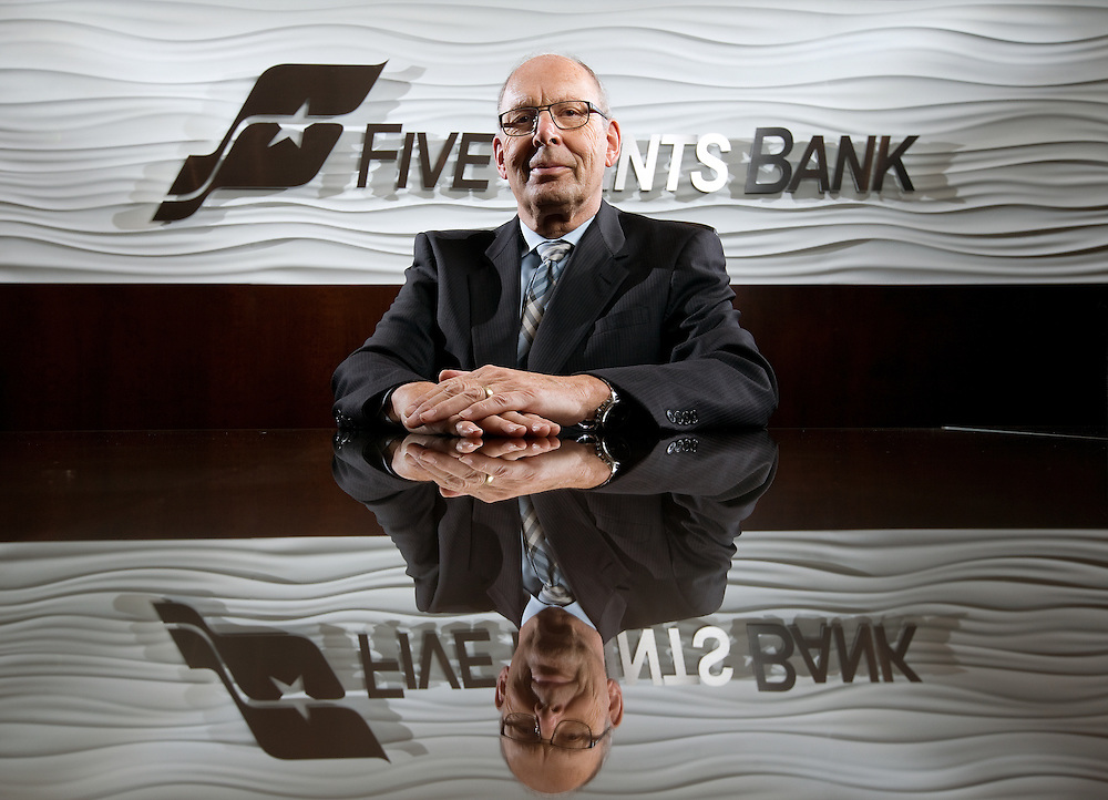 Bill Marshall, president of Five Point Bank, is the Grand Island Independent's 2013 Man of the Year. (Independent/Matt Dixon)