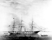USS Hartford, a sloop-of-war, steamer, was the first ship of the United States Navy named for Hartford, the capital of Connecticut. Hartford served in several prominent campaigns in the American Civil War as the flagship of David G. Farragut, most notably the Battle of Mobile Bay in 1864. She survived until 1956, when she sank awaiting restoration at Norfolk, Virginia.