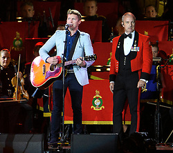 © Licensed to London News Pictures. 15/05/2016. Windsor, UK.  JAMES BLUNT performs during an evening event held at the Royal Windsor Horse show to celebrate the 90th birthday of HRH Queen Elizabeth II. Acts from arounds the world have been invited to perform at the evening event, set in the grounds of Windsor Castle. Photo credit: Ben Cawthra/LNP