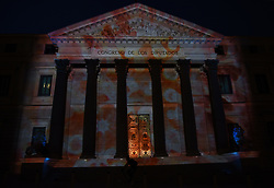 June 8, 2017 - Madrid, Spain - Images from the ocean are projected on the facade of the Spanish parliament building in Madrid during the World Oceans day. (Credit Image: © Jorge Sanz/Pacific Press via ZUMA Wire)