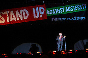 Stewart Lee. The Peoples Assembly  presents: Stand Up Against Austerity. Live at the Hammersmith Apollo. London. © Andrew Aitchison / Peoples Assembly