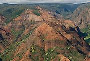 Waimea Canyon on Kauai, Hawaii, known as the Grand Canyon of the Pacific.