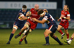 Joe Latta of Bristol Rugby is tackled - Mandatory by-line: Robbie Stephenson/JMP - 13/01/2018 - RUGBY - Castle Park - Doncaster, England - Doncaster Knights v Bristol Rugby - B&I Cup