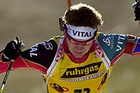 Skiskyting, 11. desmeber 2003, Ole Einar Bjørndalen (NOR), Norge Biathlon Norwegen<br /> Weltcup Hochfilzen 10 km Sprint