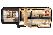 All aboard! Ferrari designer unveils plans for new £30m ultra-luxury train in Japan ... with glass walls and high-end bedroom suites<br />