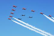 RAF Red Arrows w Spitfires
