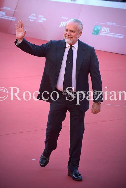 Aurelio De Laurentis walks the red carpet ahead of the 'Bad Times At The El Royale (Sette Sconosciuti A El Royale)' screening during the 13th Rome Film Fest at Auditorium Parco Della Musica on October 26, 2018 in Rome, Italy.