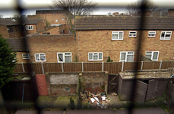 © Licensed to London News Pictures 04/05/2004.View through a window of a flat of Craylands estate, an impoverished council estate in Basildon, Essex..Basildon, UK.Photo credit: Anna Branthwaite