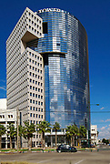 Modern office building at 28 HaMered St, Tel Aviv, Israel near the Mediterranean Sea and Jaffa