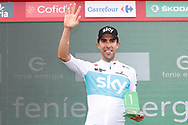 Jonathan Castroviejo (ESP - Team Sky) podium during the 73th Edition of the 2018 Tour of Spain, Vuelta Espana 2018, 19th stage Lleida - Andorra 154,4 km on September 14, 2018 in Spain - Photo Luca Bettini / BettiniPhoto / ProSportsImages / DPPI