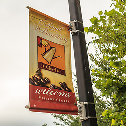 Welcome to Williamsburg Visitor Center sign.