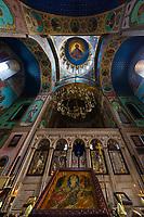 Sioni cathedral indoors landmark of Tbilisi Georgia capital city eastern Europe