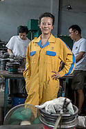 CHINA /  Chengdu<br /> <br /> Mrs. Ping Chen , Factory owner <br /> <br /> © Daniele Mattioli Shanghai China Corporate and Industrial Photographer  for Allianz Germany