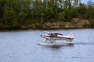 VILDMARKSVÄGEN JULI 2020<br /> Sjöflyplan startar från Kultsjön under helgens tur efter Vildmarksvägen.<br /> Foto: Per Danielsson/Projekt.P