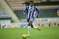 Jordy Hiwula (Wigan) during the Sky Bet League 1 match between Wigan Athletic and Gillingham at the DW Stadium, Wigan, England on 7 January 2016. Photo by Mark P Doherty.