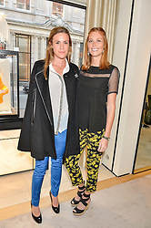 Left to right, HELEN CRUDEN and the HON.CAROLINA BERESFORD daughter of Lord Charles Beresford at the Jaeger-LeCoultre Gold Cup draw 2016 held at Jaeger-LeCoultre, Bond Street, London on 6th June 2016.