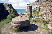 Mill wheels and remaining walls, Trefin, Pembrokeshire, Wales