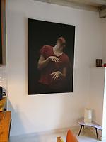 foto in privebezit / formaat 100x150cm / zwart houten baklijst