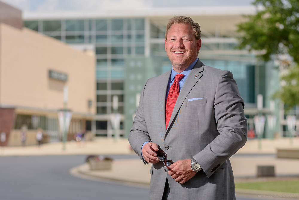 Jason Rittenberry, CEO of Kentucky Venues, photographed Friday, July 7, 2017 outside the Kentucky Exposition Center in Louisville, Ky. (Photo by Brian Bohannon)