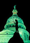 Image of the Texas State Capitol and Heroes of the Alamo statue in Austin, Texas, American Southwest by Randy Wells