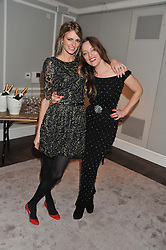 Left to right, JACQUETTA WHEELER and ALICE TEMPERLEY  at a party to celebrate thelaunch of Alice Temperley's flagship store Temperley, Bruton Street, London on 6th December 2012.