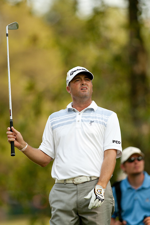 BETHESDA, MD - JUNE 30: Ryan Palmer plays a tee shot during the third round of the 2012 AT&T National at Congressional Country Club in in Bethesda, Maryland on June 30, 2012. (Photograph ©2012 Darren Carroll) *** Local Caption *** Ryan Palmer