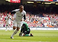 Photo: Chris Ratcliffe.<br />Liverpool v West Ham United. The FA Cup Final. 13/05/2006.<br />Dean Ashton of West Ham celebrates scoring the second goal.