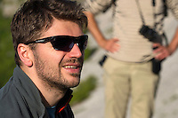 Adrian Hagatis, Teamleader of the Southern Carpathians rewilding team/WWF Romania, in the Central Apennines rewilding area, Italy, in and around the Abruzzo, Lazio e Molise National Park.