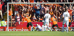 Dundee United's Billy McKay (7) cele scoring their goal. <br /> Half time : Dundee United 1 v 0 Inverness Caledonian Thistle, SPFL Ladbrokes Premiership game played 19/9/2015 at Tannadice.