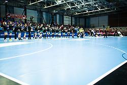 Team RK Krim Mercator during handball match between RK Krim Mercator and Brest Bretagne Handball in 2nd main round of Women's DELO EHF Champions League 2019/20, on February 2, 2020 in Kodeljevo, Ljubljana,  Slovenia. Photo Grega Valancic / Sportida